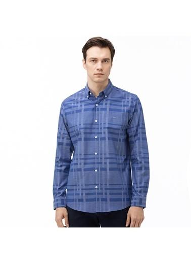 Lacoste Erkek Slim Fit Ekose Gömlek CH0029.29L Lacivert